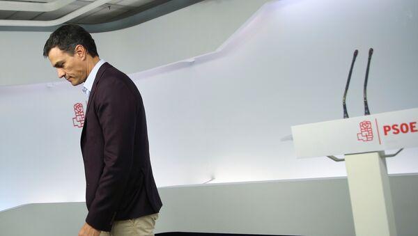 Pedro Sánchez, exlíder del PSOE - Sputnik Mundo