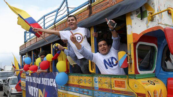 Promotores del No cuestionan a Santos por decir que el plebiscito se ganó con mentiras - Sputnik Mundo