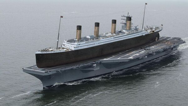 Titanic sobre el portaviones norteamericano USS Ronald Reagan - Sputnik Mundo