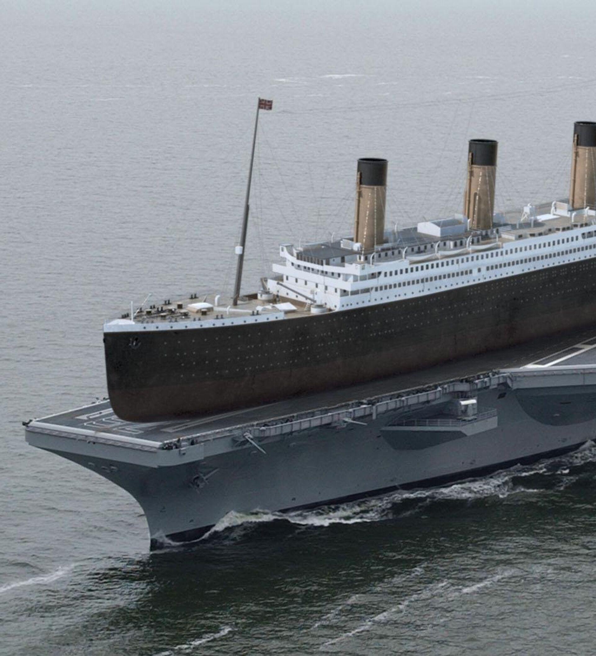 Cuántos Titanics Cabrían En Un Portaviones Nuclear Ahora Podemos Saber La Respuesta Fotos 03 10 2016 Sputnik Mundo
