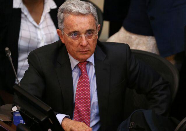Álvaro Uribe, senador y expresidente de Colombia