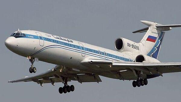 Tu-154M de la compañía Siberia Airlines similar al que cayó en el Mar Negro el 4 de octublre de 2001 - Sputnik Mundo