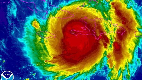 El huracán Matthew (imagen infrarroja) - Sputnik Mundo