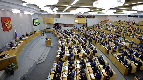 Putin pronuncia un discurso ante los parlamentarios de la nueva Duma (archivo) - Sputnik Mundo