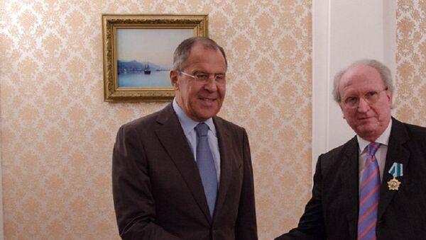 Ministro de Exteriores de Rusia, Serguéi Lavrov, y embajador de España ante el Kremlin, José Ignacio Carbajal Gárate - Sputnik Mundo
