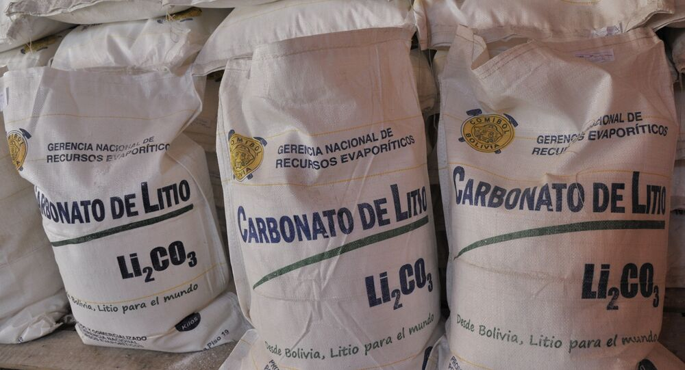 Carbonato de litio de Bolivia
