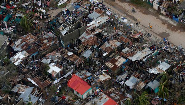 Consecuencias del paso del huracán Matthew por Haití - Sputnik Mundo