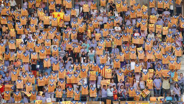 Las esteladas, banderas de Cataluña - Sputnik Mundo