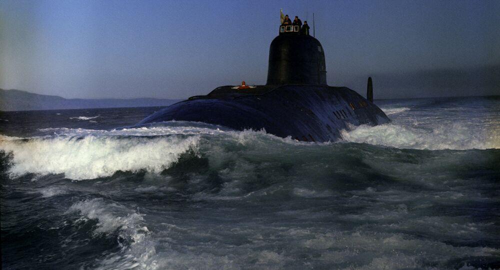 Un submarino nuclear soviético (archivo)