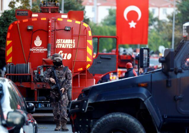 Lugar del atentado en Estambul, Turquía