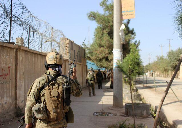 Un militar afgano (imagen referencial)