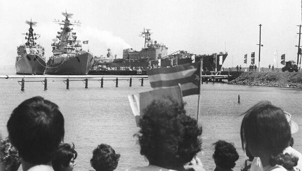 Buques soviéticos en Cienfuegos, 1970 - Sputnik Mundo