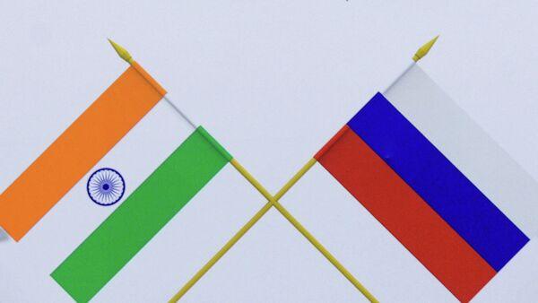 Las banderas de Rusia y la India - Sputnik Mundo