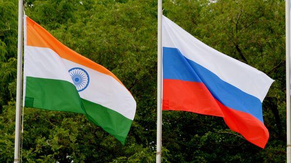Las banderas de India y Rusia - Sputnik Mundo