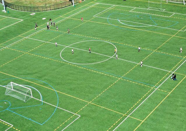 Una cancha de fútbol