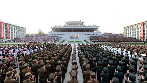 Corea del Norte celebrando el éxito de un ensayo nuclear - Sputnik Mundo