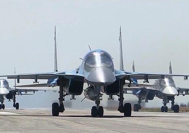 La base aérea rusa Hmeymim en Siria (archivo)