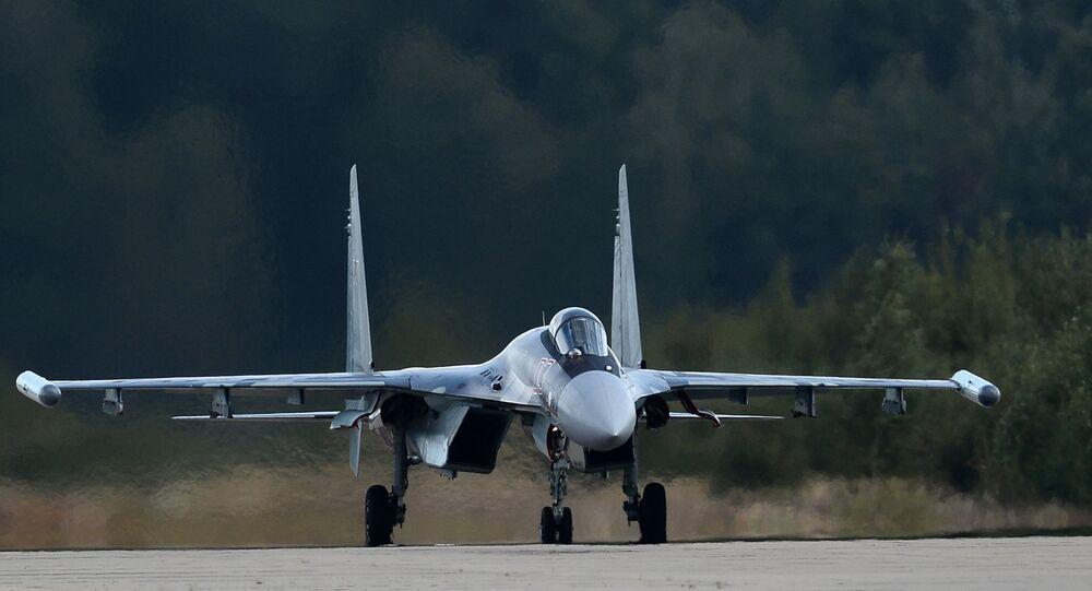 El caza polivalente ruso Su-35 (archivo)