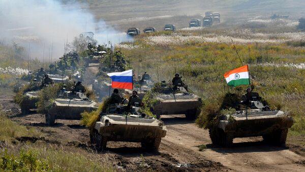 Las maniobras ruso-indias Indra (archivo) - Sputnik Mundo