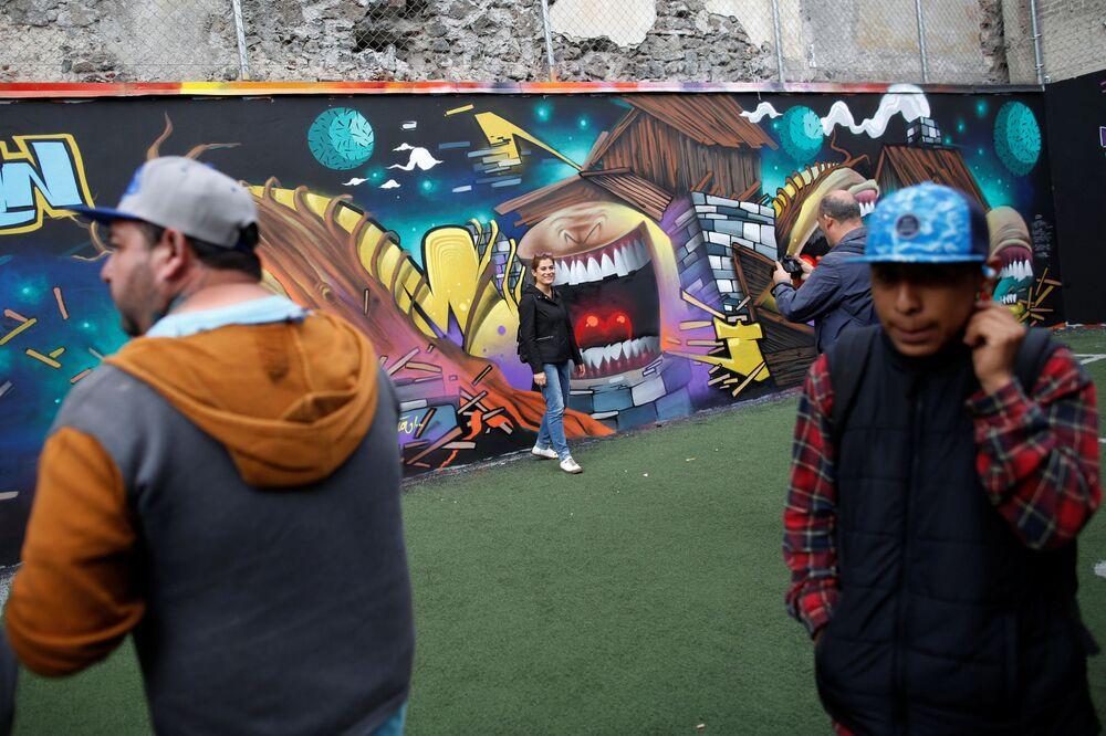 En el festival de grafiti en Ciudad de México