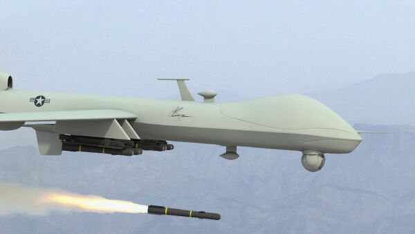 Dron estadounidense (imagen referencial) - Sputnik Mundo