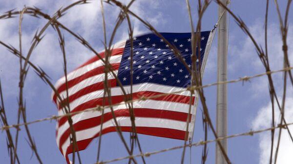 La bandera de EEUU en Guantánamo, Cuba - Sputnik Mundo
