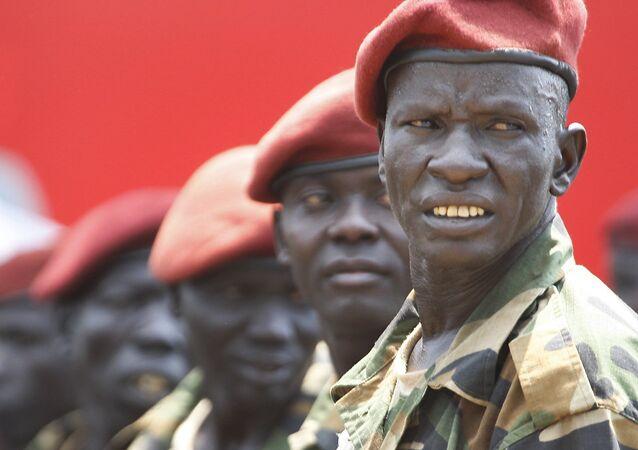Los soldados de Sudán del Sur