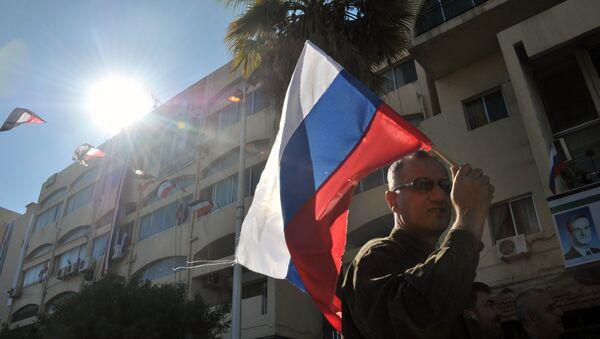 Una manifestación a favor de la operación rusa en Siria en la ciudad de Tartus (archivo) - Sputnik Mundo
