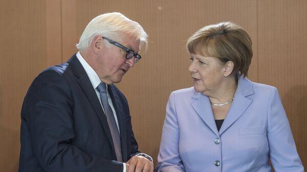 Angela Merkel y Frank-Walter Steinmeier - Sputnik Mundo