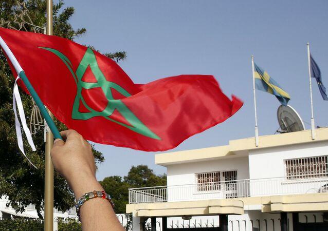 La bandera de Marruecos