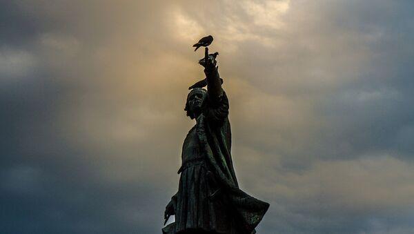 La estatua del conquistador Cristobal Colón en la República Dominicana - Sputnik Mundo