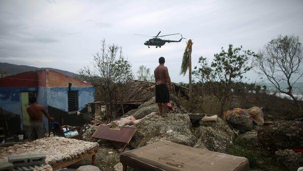 Las consecuencias del huracán Matthew en Cuba - Sputnik Mundo