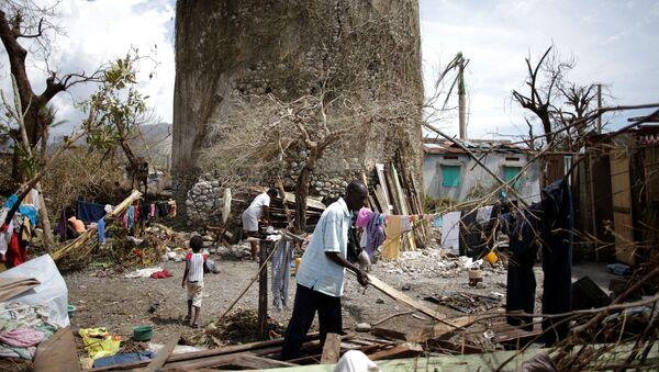 Consecuencias del huracán Matthew en Haití - Sputnik Mundo