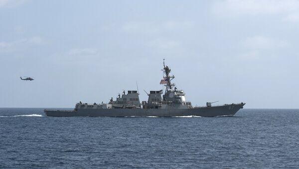 El destructor portamisiles USS Mason de la Marina de EEUU (archivo) - Sputnik Mundo