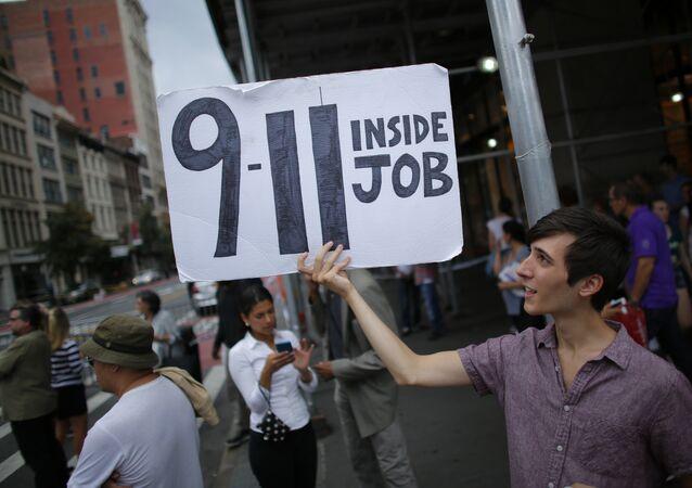 11S cartel en una demonstración