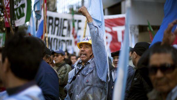 Una protesta organizada por la Central de Trabajadores de Argentina (archivo) - Sputnik Mundo