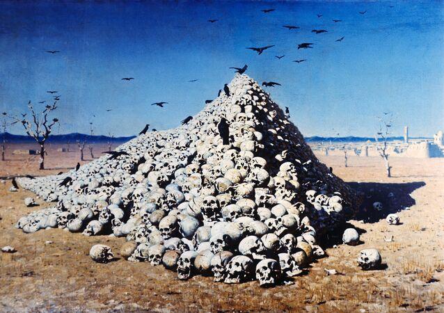 La Apoteosis de la guerra (Vasili Vereshchaguin, 1871)