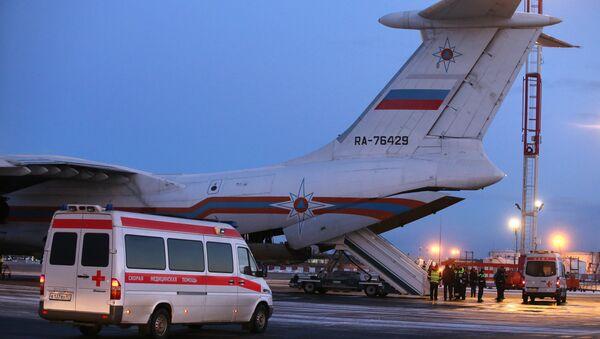 Un avión del Ministerio de Emergencias ruso - Sputnik Mundo