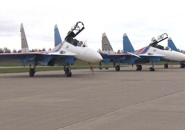 Los cazas Su-30SM