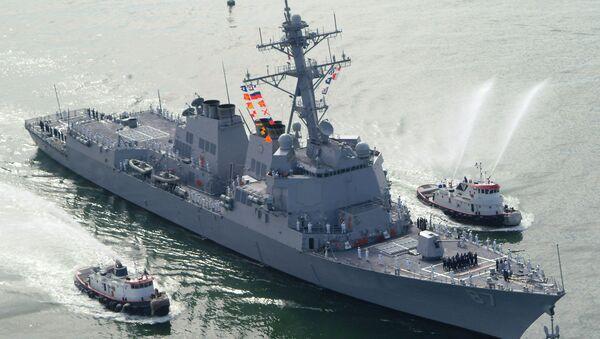 The USS Mason (DDG 87), a guided missile destroyer, arrives at Port Canaveral - Sputnik Mundo