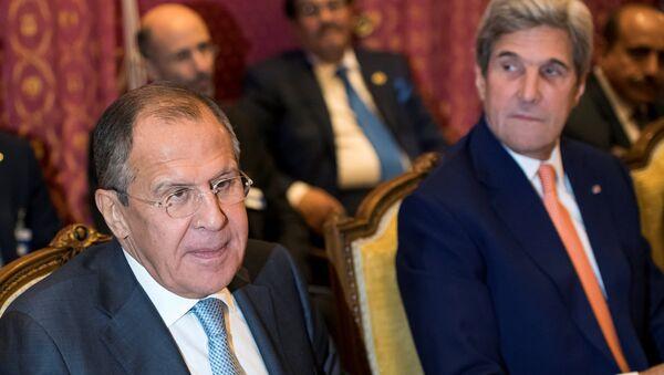 Serguéi Lavrov, ministro de Asuntos Exteriores de Rusia, en la reunión en Lausana - Sputnik Mundo