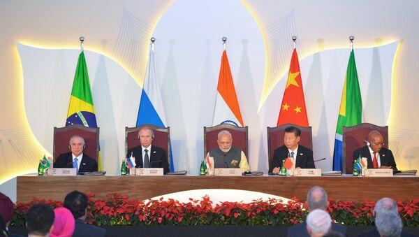 Los líderes de BRICS - Sputnik Mundo