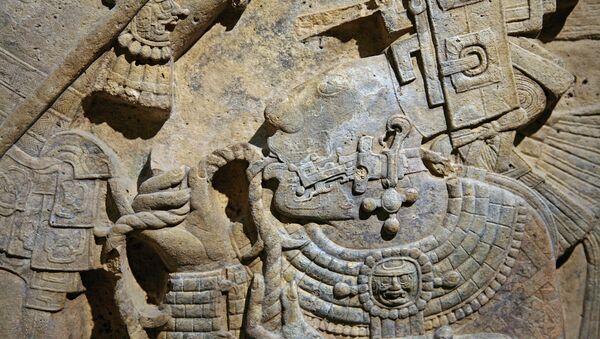 Detalle del dintel 24 de Yaxchilán, México - Sputnik Mundo
