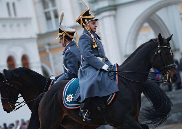 Última ceremonia de cambio de guardia del Regimiento Presidencial