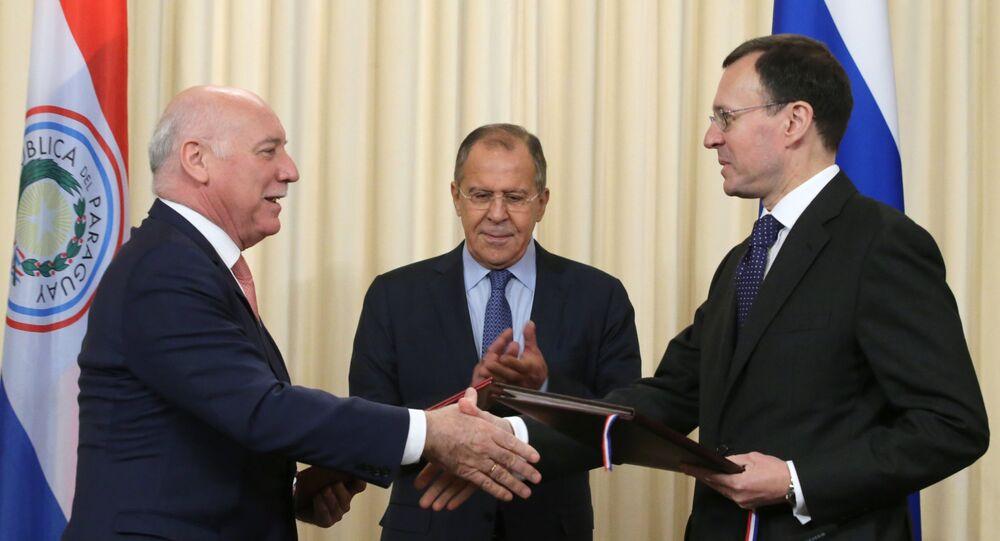 La firma del memorando entre Rusia y Paraguay sobre cooperación en la energía atómica