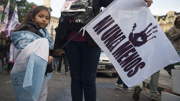 Marcha del colectivo Ni Una Menos, en Buenos Aires (archivo)  - Sputnik Mundo