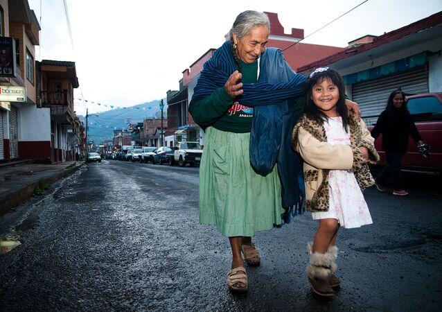 Habitantes de Cherán, México