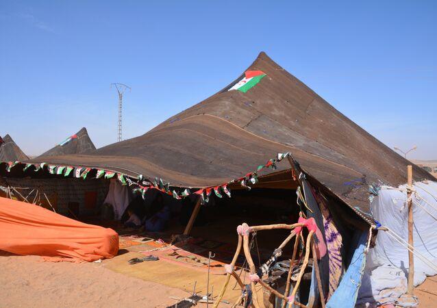 Campo de refugiados en Sáhara Occidental