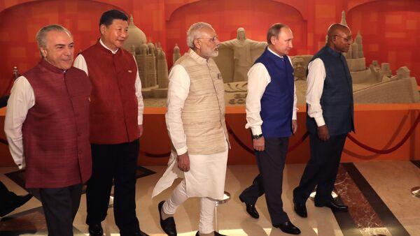 Líderes de las naciones BRICS - Sputnik Mundo