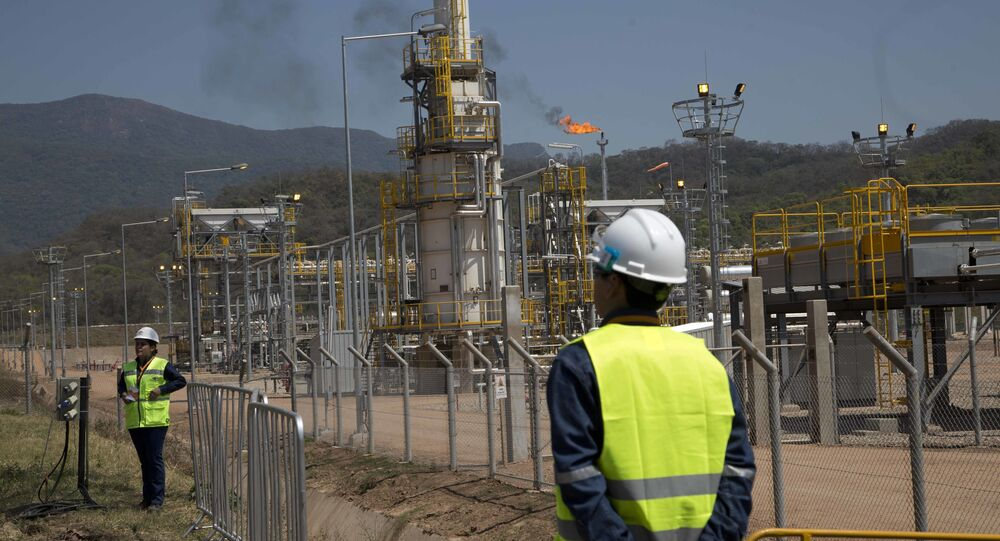 Planta de gas en Bolivia